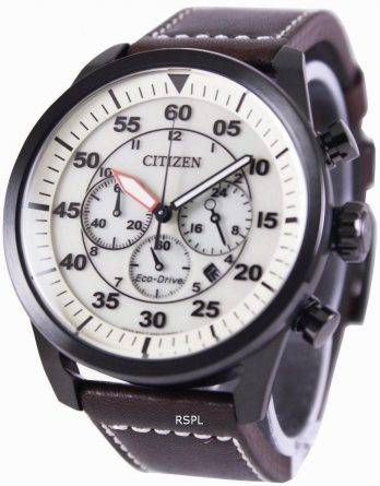 Citizen Eco-Drive Aviator Chronograph CA4215-04W Mens Watch