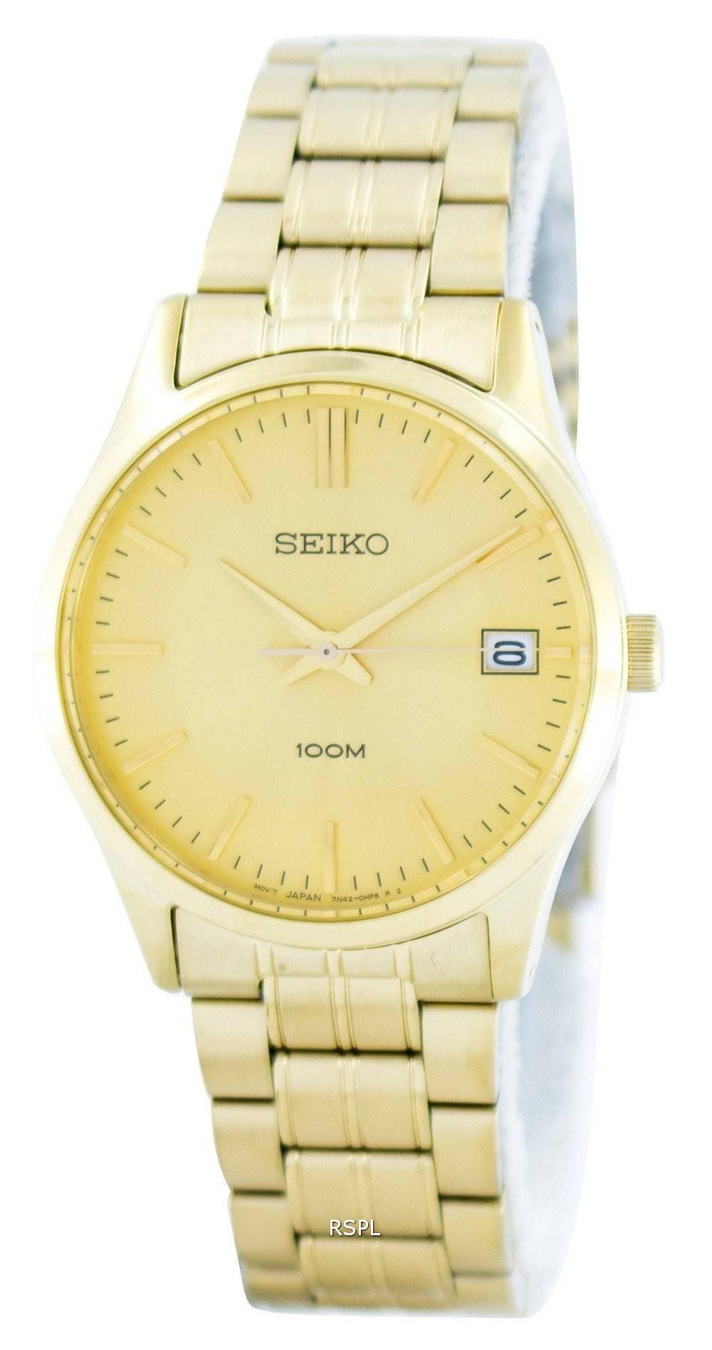 c38708f3b57 Seiko Quartz Analog Gold Tone SGEF04 SGEF04P1 SGEF04P Men's Watch