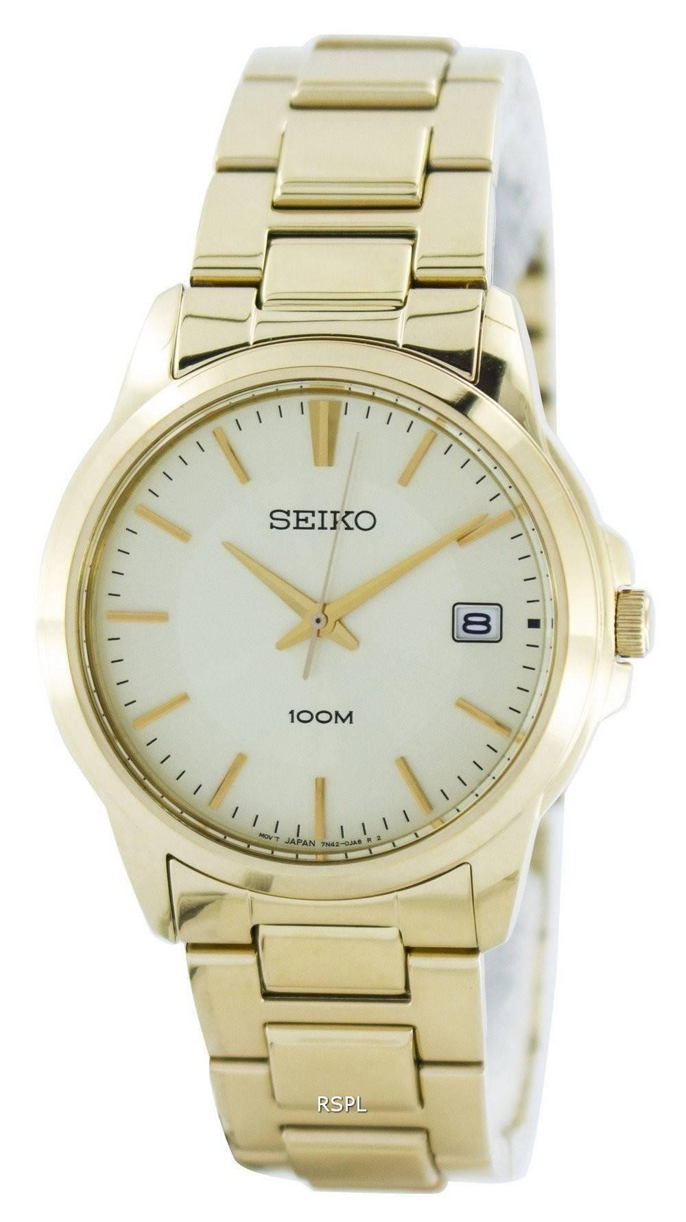 1ff207268e1 Seiko Quartz Analog Gold Tone SGEF58 SGEF58P1 SGEF58P Men's Watch