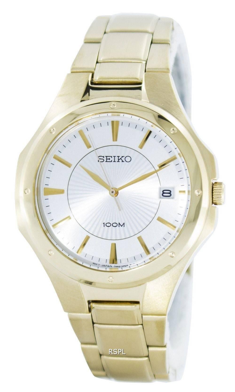 2a0cbf1bfb6 Seiko Quartz Analog Gold Tone SGEF64 SGEF64P1 SGEF64P Men's Watch