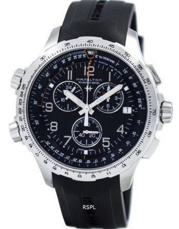 Hamilton Khaki luftfart X-vind Chronograph Quartz GMT H77912335 Herreur