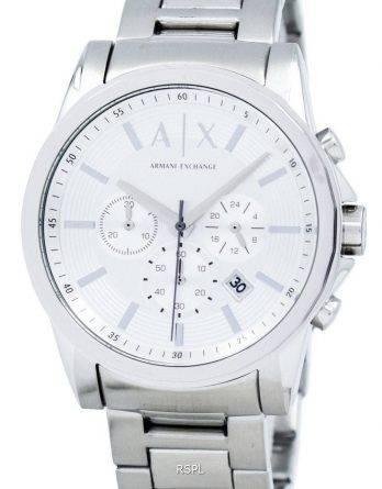Armani Exchange Chronograph sølv-Tone ringe AX2058 Herreur