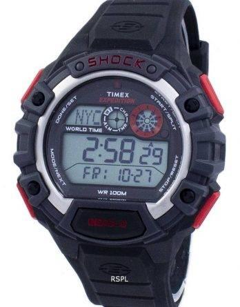 Timex Expedition globale chok verden tid Alarm Indiglo Digital T49973 Herreur