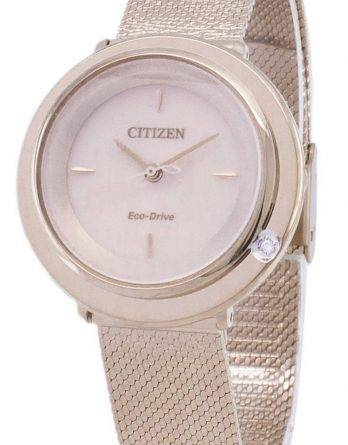 Citizen L Eco-Drive EM0643-84 X Analog diamant accenter kvinders ur
