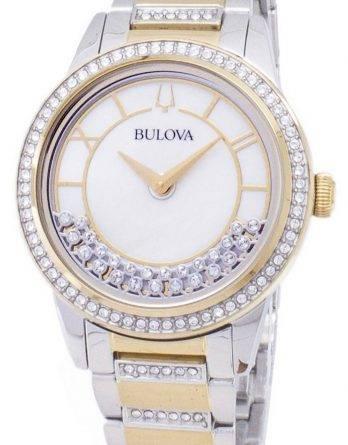 Bulova krystal TurnStyle 98 L 245 kvarts diamant accenter kvinders ur