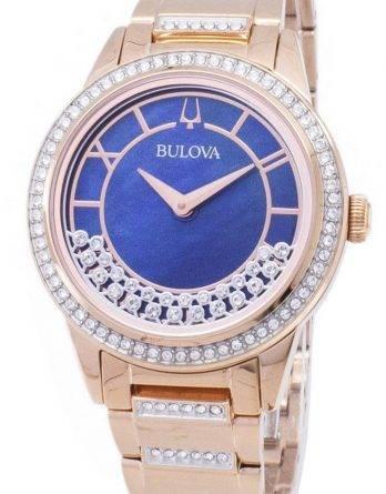 Bulova krystal TurnStyle 98 L 247 kvarts diamant accenter kvinders ur