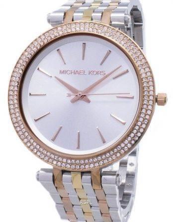 Michael Kors sølv Dial Tri-tone krystaller MK3203 kvinders ur