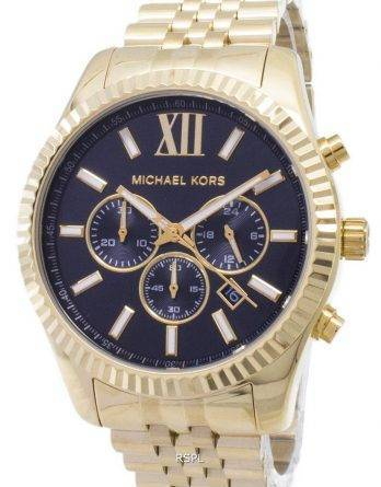 Michael Kors Lexington Chronograph sort urskive guld-tone MK8286 Herreur