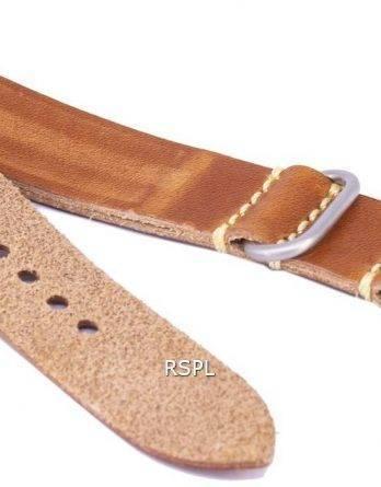 Brun forholdet mærke læderrem 20mm