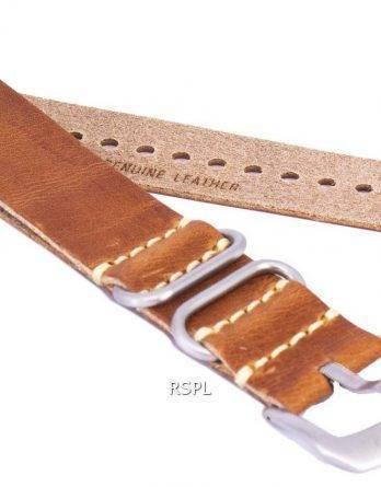 Brun forholdet mærke læderrem 22mm