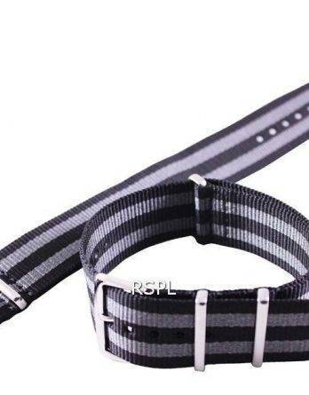 Seiko 22mm grå & sort Nato rem til SKX007, SKX009, SKX011, SRP497, SRP641