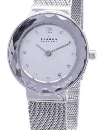Skagen Leonora kvarts armeringsnet krystaller 456SSS kvinders Watch