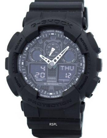Casio G-Shock militære mat sort GA-100-a1 Herre ur